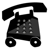 telephone on wheels - making calls in a hurry poster