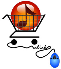 concept of shopping on the internet for music