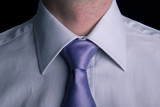 Businessman, white collar worker - closeup of a shirt and tie poster