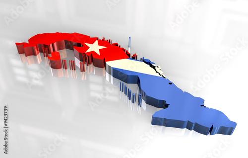 photo  3d flag map of cuba    www fzd it  9423739