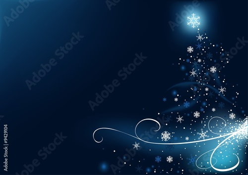 Blue Christmas Bckg 4 - christmas illustration