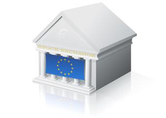 Place de marché européenne (reflet)