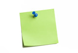Vibrant Green Sticky Note poster