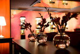Nightclub interior - flower decoration poster