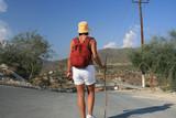 Woman trekking poster