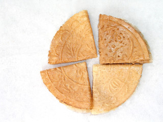 Fan-Shaped Chinese Love Letters biscutis