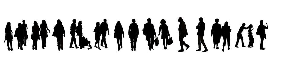 groupe de silhouette homme femme et couple