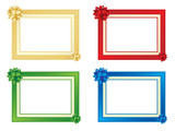 Set of four frames with bows