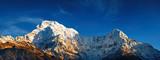 Mount Annapurna South at sunrise, Himalaya, Nepal poster