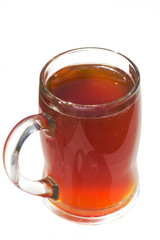 mug of kvass isolated on wbite