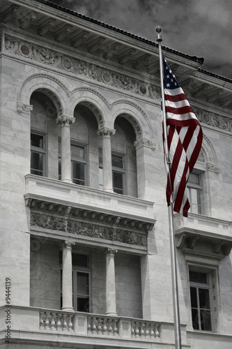 Building and Flag