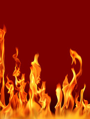 actual photographs of fire flames over red
