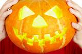 A scary old jack-o-lantern... poster
