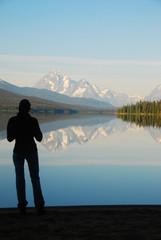 mountain lake in canada british columbia