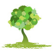tree vector (splash style)
