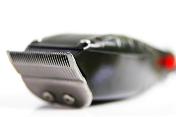 closeup of hair clippers,  on white