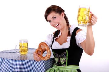 Bayerische Bedienung Dirndl