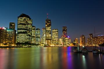 Brisbane Skyline Just After Sunset