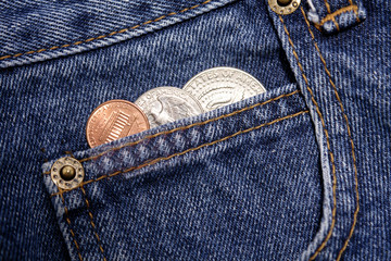 U.S. coins in pocket