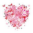 Quadro Floral heart shape