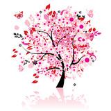 Fototapete Hintergrund - Schönheit - Baum