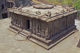 Ancient Hindu Rock Temple. Ellora, India poster