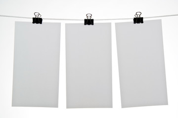 Blank sheets of paper