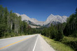 Road in British Columbia, Canada. Yoho National Park.