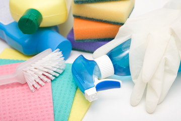 close up of cleaning accessories