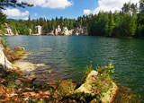Emerald lake-Nat. park of Adrspach-Teplice rocks-Czech Rep poster