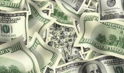 close up shot of  American dollar