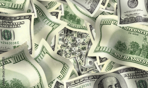 close up shot of  American dollar