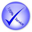 """100% Service"" Logo"