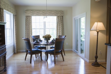 View of dining area in a home.