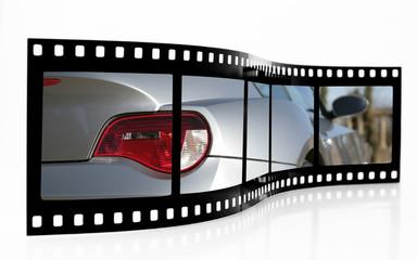 Sports Car Film Strip
