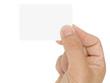 Présentation d'une carte de visite vierge sur fond blanc