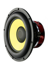 Big speaker for car sound (isolated)
