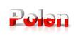 polen 3d text symbol reflektion