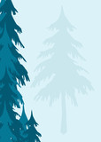 an evergreen trees background appropriate for stationary poster