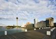 Düsseldorf MedienHafen, Marina, Rheinturm, Gehry Gebäuden