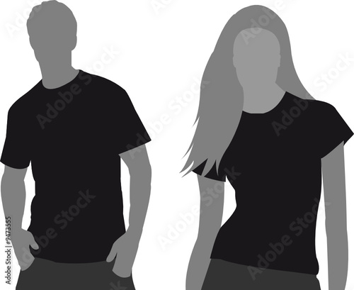 T-shirt Vorlage vector