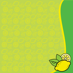 background with pattern from lemons