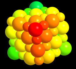 3d model of crystal structure