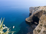 This cave in Malta known as Blue Grotto poster