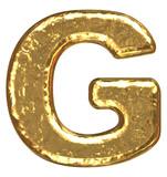 Fototapety Golden font. Letter G.