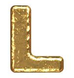 Golden font. Letter A. poster