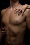 Fototapety man body and woman nail