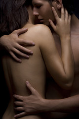 sexy passion between woman and man