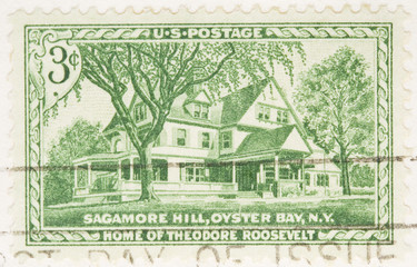 This is a Vintage 1953  Home of Theodore Roosevelt