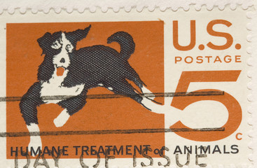 This is a Vintage 1964 Stamp Humane Treatment of Animals